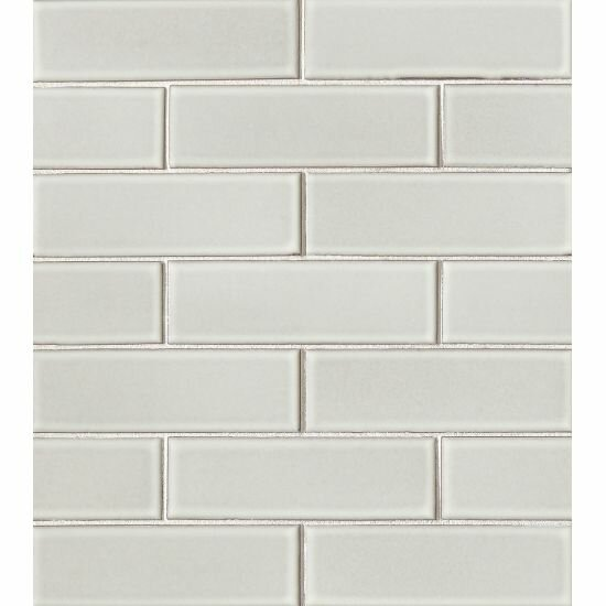 Reverie 2 x 6 Porcelain Mosaic Tile in Gray by Grayson Martin