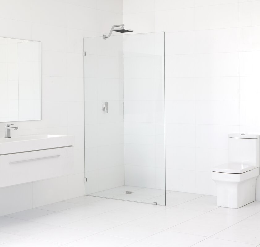 This Unique Gl Panel Does Not Have A Sliding Or Pivoting Door It Is Installed Mainly To Serve As Bath Screen Features Coated Frameless