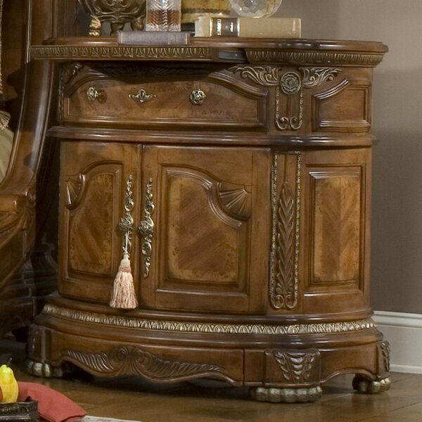 Cortina 1 Drawer Nightstand by Michael Amini