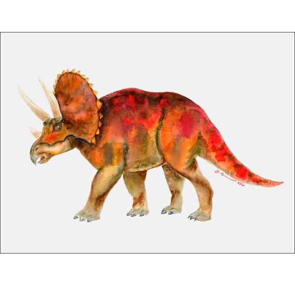 Dinosaur Portrait - Triceratops by Brett Blumenthal Canvas Art by Oopsy Daisy