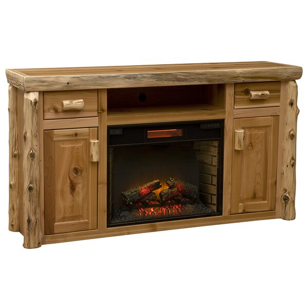Cedar 65 TV Stand with Fireplace by Fireside Lodge