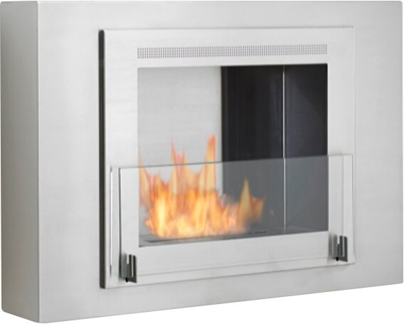 Wellington Wall Mounted Ethanol Fireplace by Eco-Feu