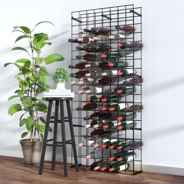 Tie Grid 144 Bottle Floor Wine Bottle Rack by Rebrilliant Rebrilliant