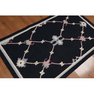 Great Price One-of-a-Kind Kruck Dhurry Kilim Reversible Hand-Woven Black Area Rug ByRed Barrel Studio