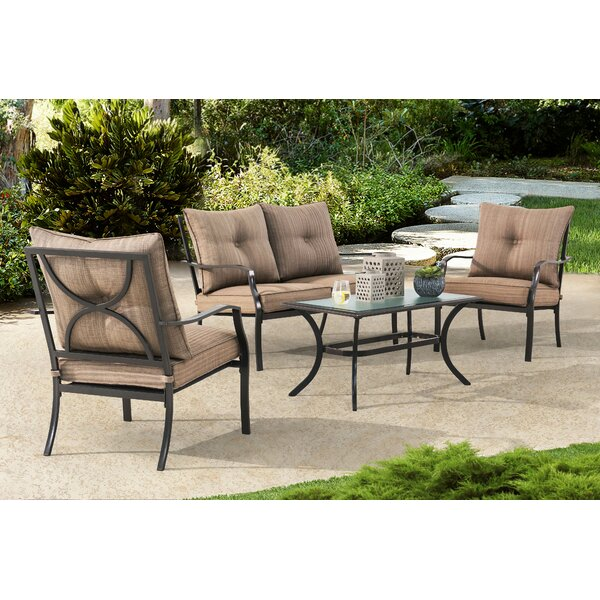Penright 4 Piece Sofa Set with Cushions by Canora Grey
