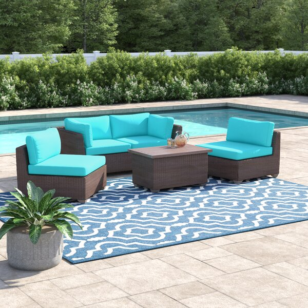 Fernando 5 Piece Sofa Seating Group with Cushions by Sol 72 Outdoor