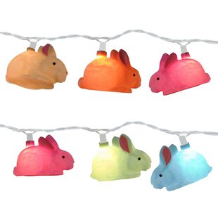 Rabbit 10 Light Novelty String Light By The Holiday Aisle Outdoor Lighting