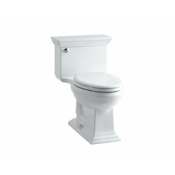 Memoirs Stately Comfort Height One-Piece Elongated 1.28 GPF Toilet with Aquapiston Flush Technology and Left-Hand Trip Lever by Kohler