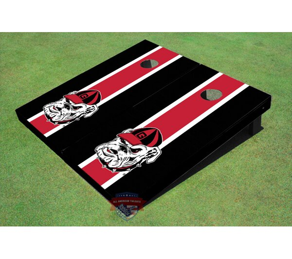 NCAA Hairy Dawg Long Stripe Cornhole Board (Set of 2) by All American Tailgate