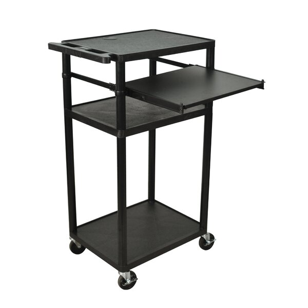 Computer Cart with Front Shelf by Offex