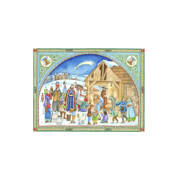 Sellmer Nativity Card Advent Calendar by The Holiday Aisle