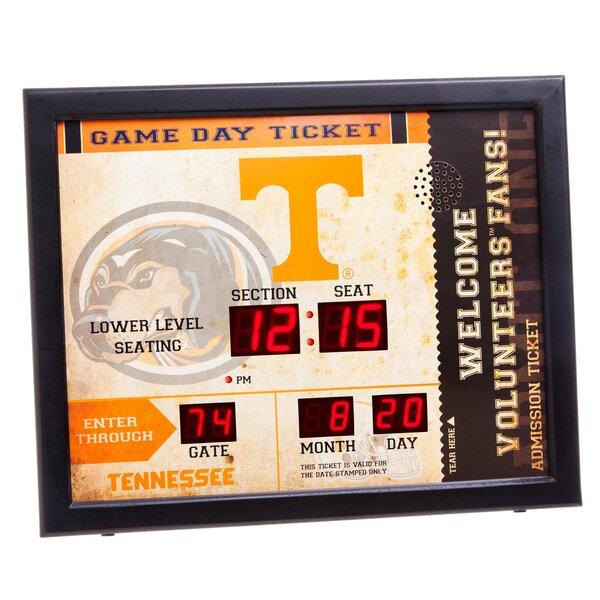 NCAA Bluetooth Scoreboard Wall Clock by Evergreen Enterprises, Inc