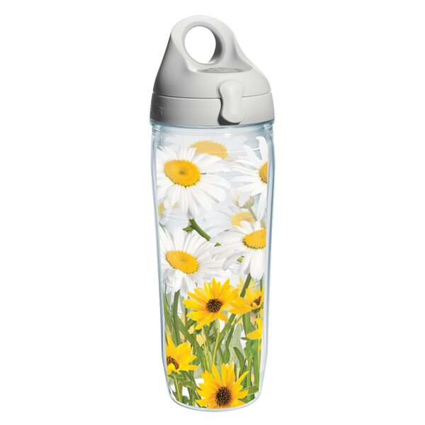 Garden Party White Daisies Plastic Water Bottle by Tervis Tumbler