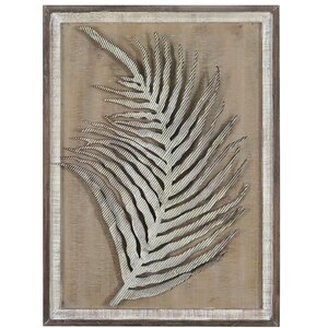 'Leaf' Framed Graphic Art Print by Foreside Home & Garden