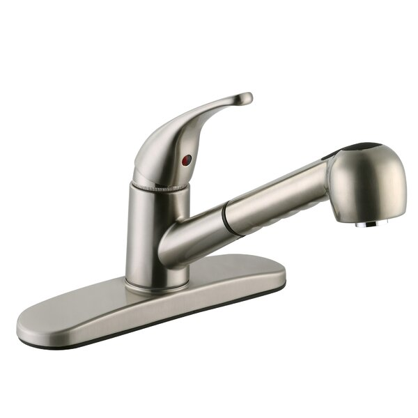 Milano Pull Out Single Handle Kitchen Faucet by Design House