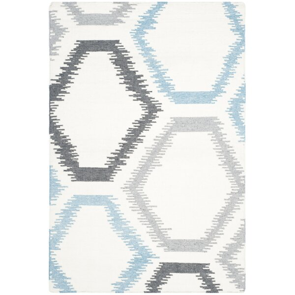 Dhurries Wool Ivory Area Rug by Safavieh