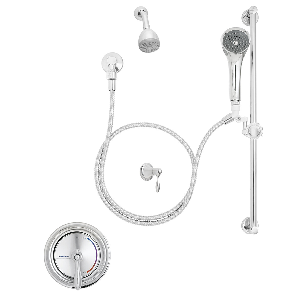 Speakman Sentinel Mark Ii Thermostatic Tub And Shower Faucet With Rough In Valve Trim And Diverter Wayfair