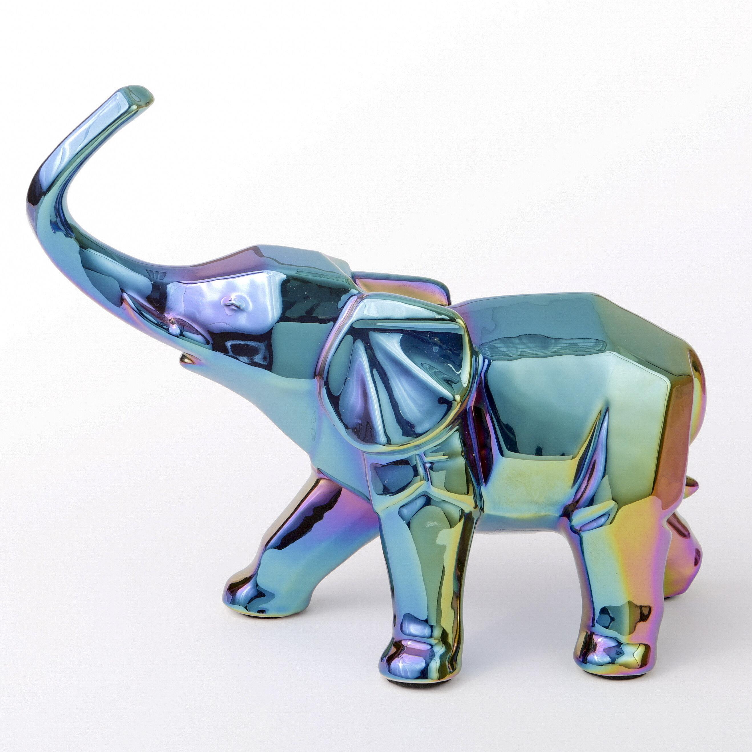 Wrought Studio Feemster Iridescent Elephant Figurine & Reviews | Wayfair