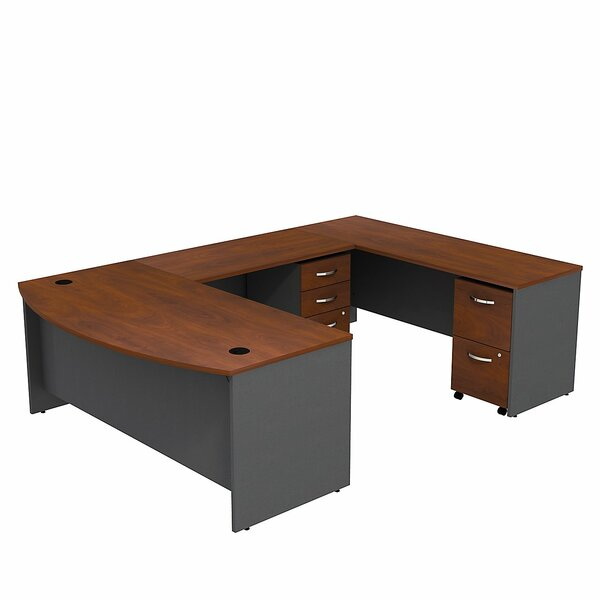 Series C Bow Front U-Shape Executive Desk by Bush Business Furniture