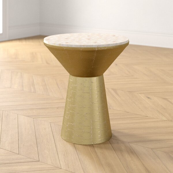 Abba Drum End Table By Foundstone