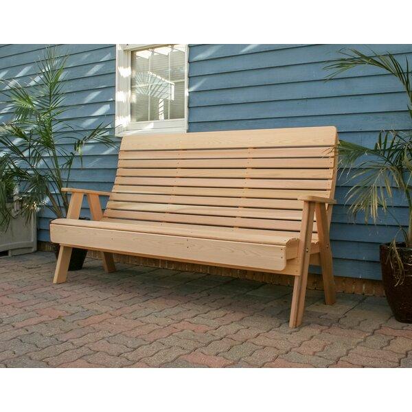 Foltz Wooden Garden Bench by August Grove
