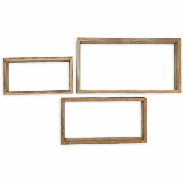 Parrish Vintage Farmhouse Shadow Box 3 Piece Wall Shelf Set by Gracie Oaks
