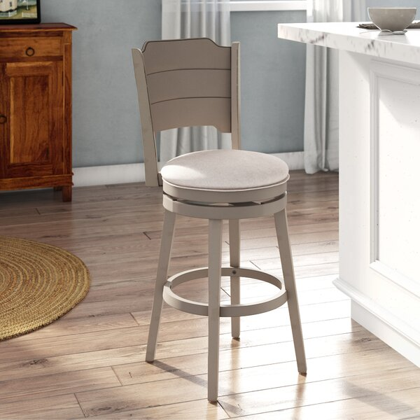 Kinsey Bar & Counter Swivel Stool By Rosecliff Heights New Design