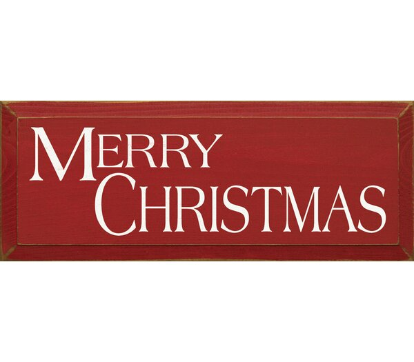 Merry Christmas Textual Art Plaque by Sawdust City