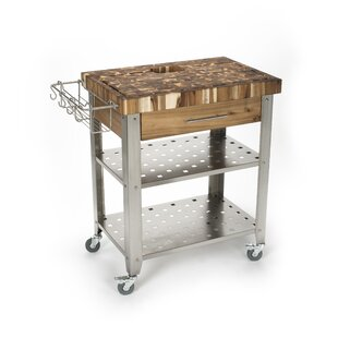 Kitchen Island with Butcher Block Top by Chris & Chris