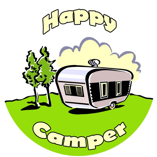 Happy Camper Trivet by Andreas Silicone Trivets