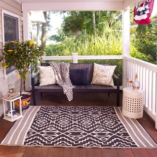 Tayler Black/Off White Area Rug by Union Rustic