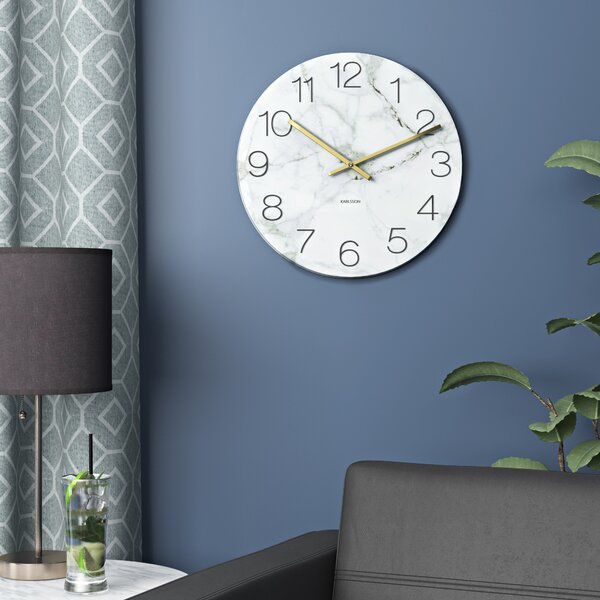 Glass Marble Wall Clock by Serax