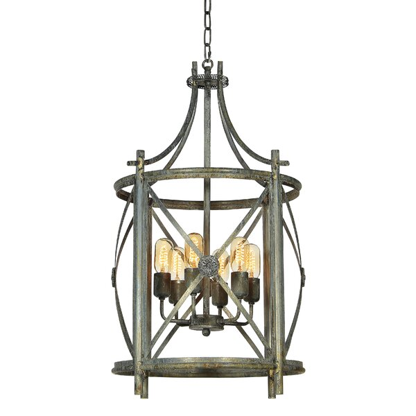 Rosette 4 - Light Lantern Drum Chandelier by ellahome ellahome