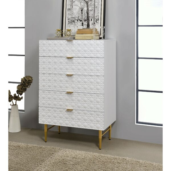 Camilo Wooden 5 Drawers Chest by Everly Quinn