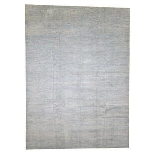 One-of-a-Kind Barclay Hand-Knotted 9' x 12'3 Wool/Silk Beige Area Rug by Isabelline