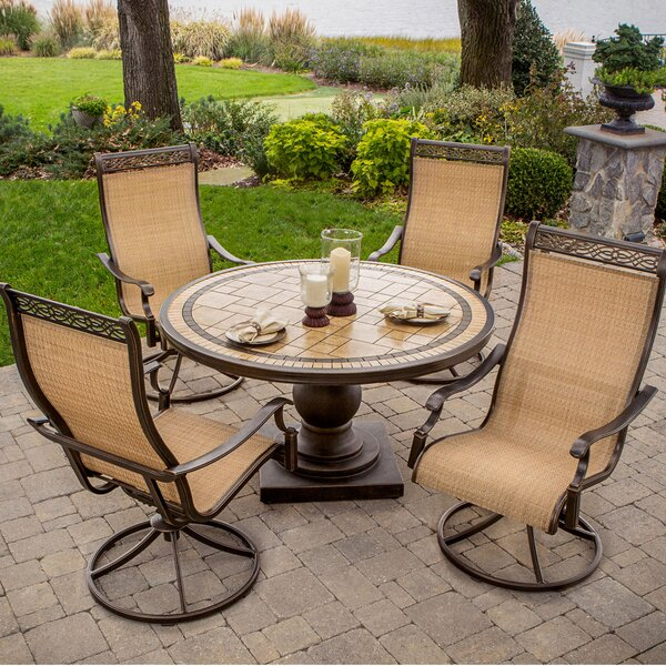 Lauritsen 5 Piece Round Dining Set by Three Posts