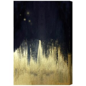 Starlight Painting Print on Wrapped Canvas by Oliver Gal