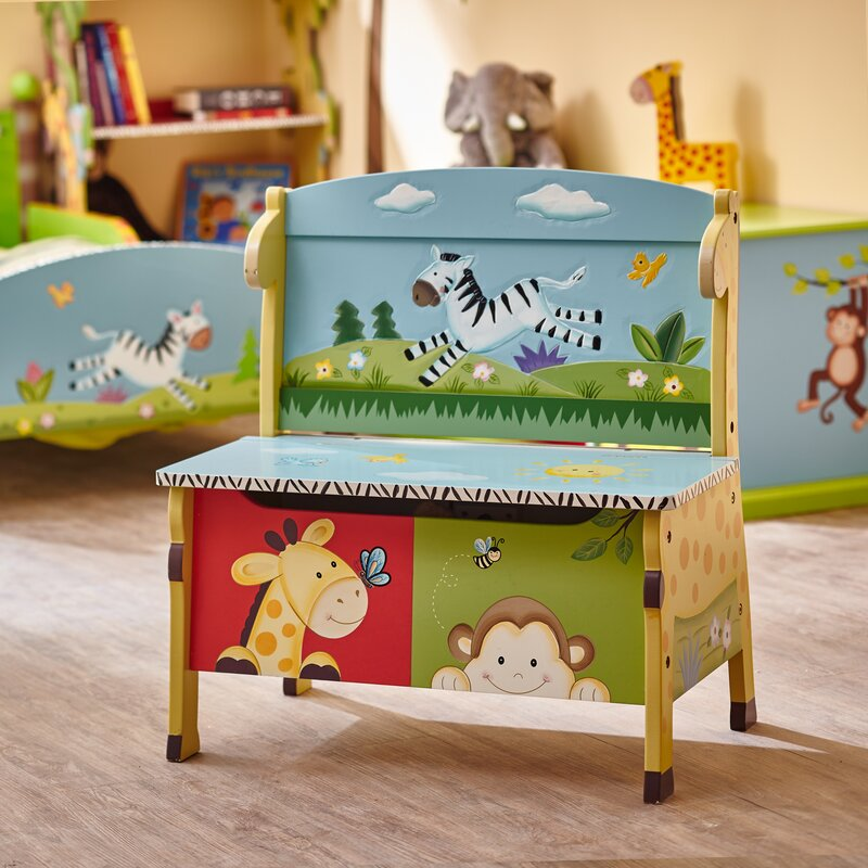 sunny safari kids storage bench