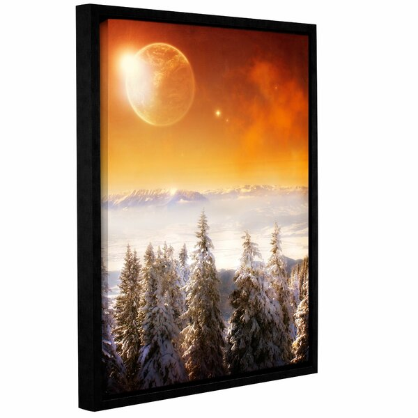 Golden Eclipse II Framed Photographic Print on Wrapped Canvas by East Urban Home