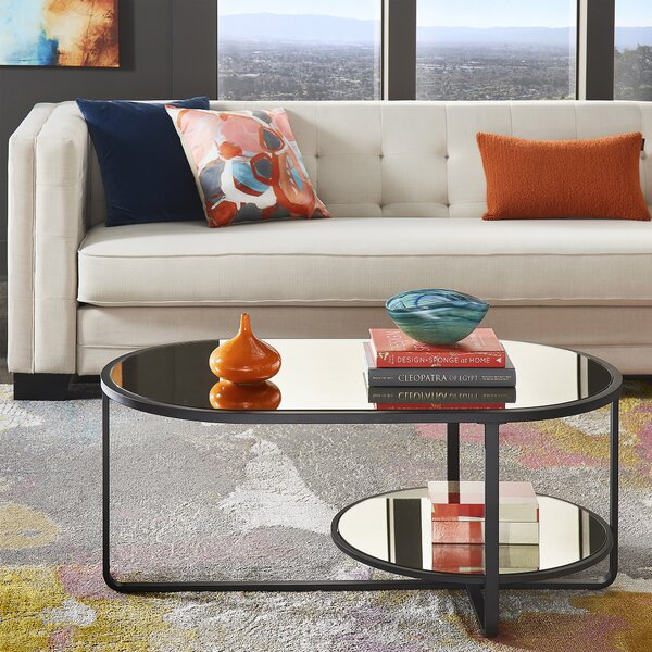 Brendis Cross Legs Coffee Table With Storage By Ivy Bronx