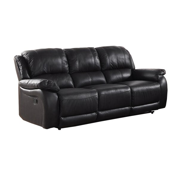 Juan Leather Reclining Sofa by Latitude Run