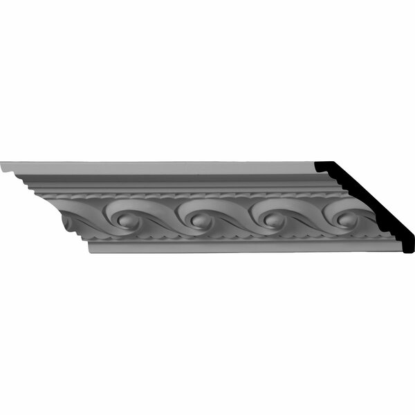 Marseille 2 5/8H x 96W x 2 3/8D French Scroll Crown Moulding by Ekena Millwork