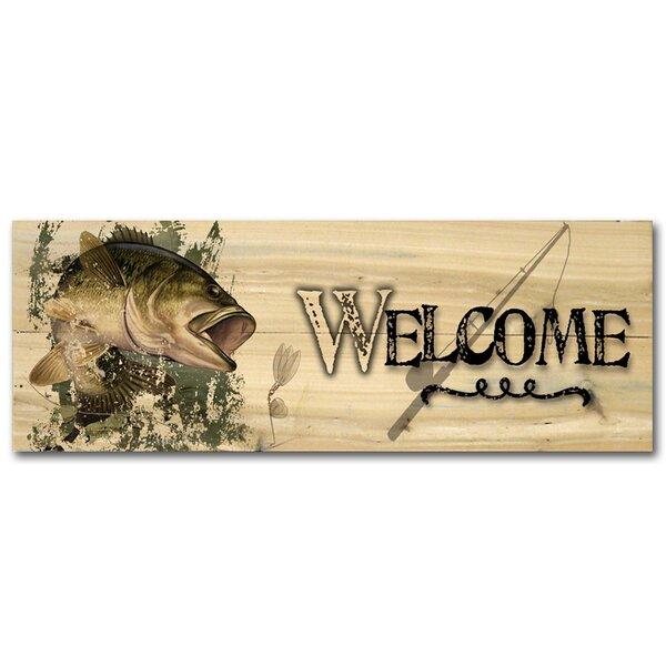 Welcome Bass by David Wenzel Graphic Plaque by WGI-GALLERY