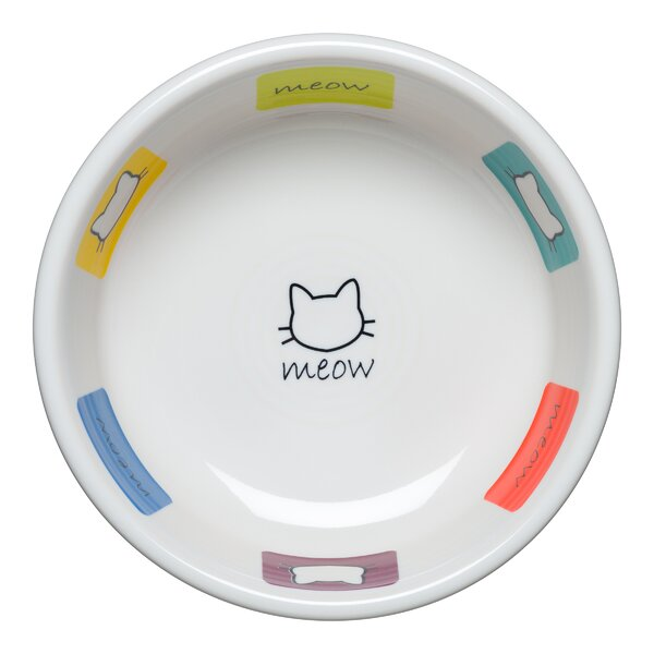 Meow Cat Decorative Plate/Bowl by Fiesta