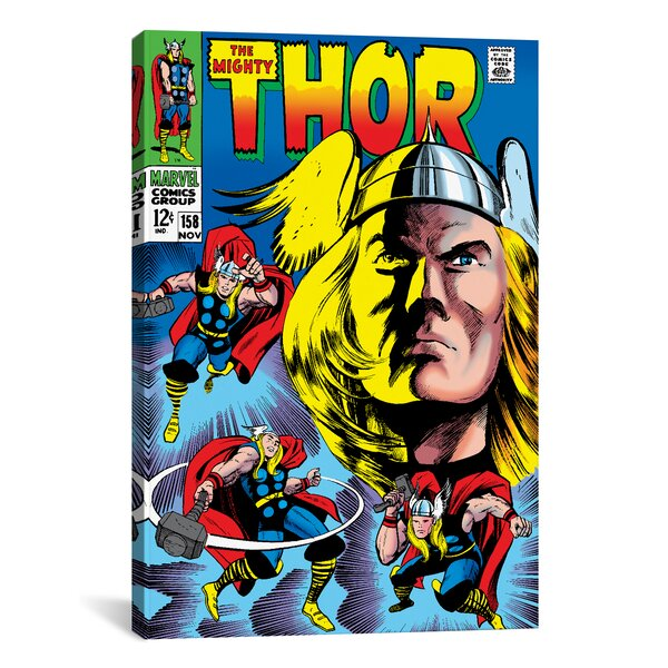 Marvel Comics Book Thor Issue Cover 158 Graphic Art on Wrapped Canvas by iCanvas