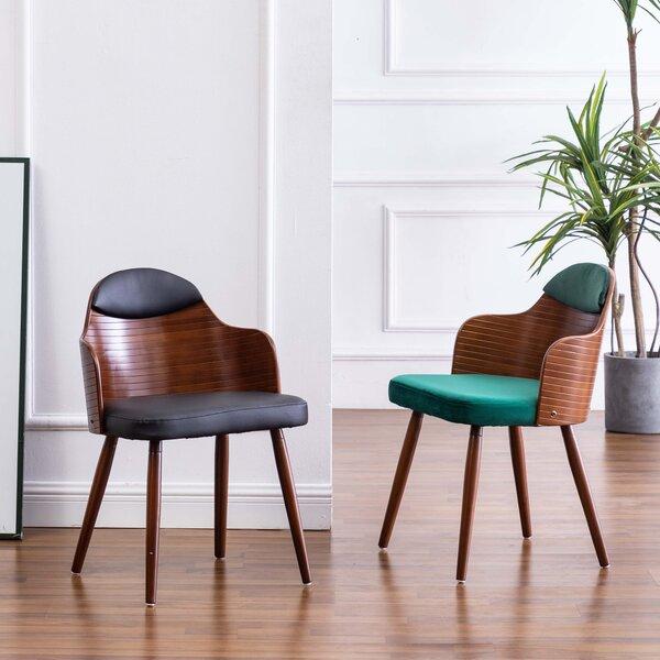Berlan Solid Wood Arm Chair In Green/Brown (Set Of 2) By Corrigan Studio