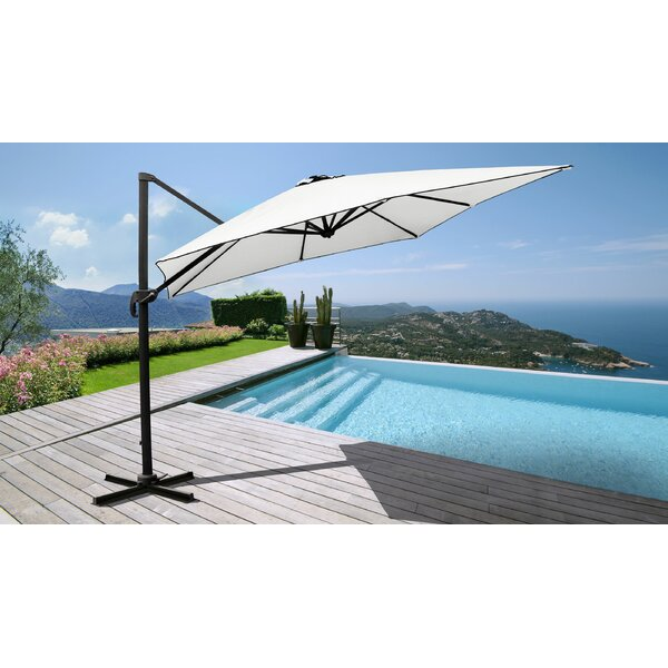 Outdoor 10' Square Cantilever Umbrella By Kathy Ireland Homes & Gardens By TK Classics by kathy ireland Homes & Gardens by TK Classics Wonderful
