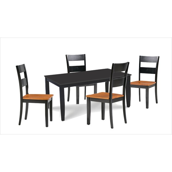 Almeida 5 Piece Extendable Solid Wood Dining Set By Charlton Home Sale