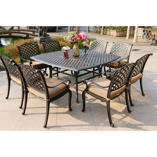 Balcom Aluminum 9 Piece Dining Set with Cushions by Canora Grey