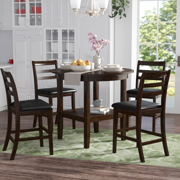 Gosselin 5 Piece Counter Height Dining Set by Alcott Hill